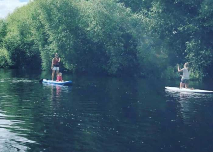 Stand Up Paddle Boarding In Herefordshire
