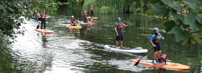 Paddle Boarding In Herefordshire